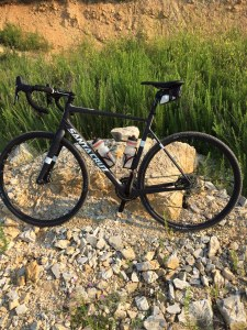 This cyclocross bicycle is perfect for racing!